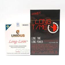 (12P+12P)UNIDUS Long Love + SIMPLEX Long Time Climax Delaying Benzocaine Condoms