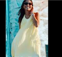 BNWT -ZARA Pleated Halter Dress Size Medium
