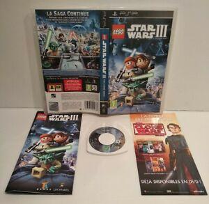 LEGO Star Wars III : The Clone Wars  - Jeu PSP Region Free Fr Très bon état