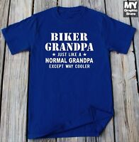 Biker Grandpa T-Shirt Fathers Day Gift Grandpa Christmas Shirt Grandfather Tee