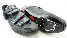 SIDI Genius 7 Air Road Cycling Shoes Men's Size US 11.5 EUR 46 Black 3 Bolt