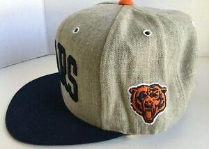 Mitchell & Ness Snapback Hat Cap CHICAGO BEARS New NFL Gray Navy Hologram
