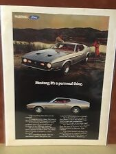 1971 Ford Mustang Mach I Silver Full Page Ad   NICE!!