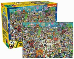 3000 piece Puzzle Retro Nickelodeon SPONGEBOB SQUAREPANTS - BIKINI BOTTOM Cast
