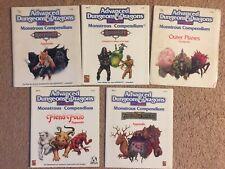 TSR AD&D  5 Monstrous Compendium Lot Appendix See Below