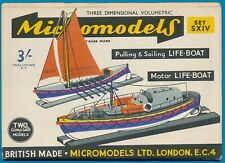 Micromodels Original old set S XIV  2 Life-boats