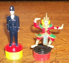 VTG BOBBY CONSTABLE POLICE TOY PENCIL SHARPENER + HINDU DANCER KRISHNA BHARATA