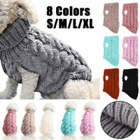 Fashion Knitted Puppy Dog Winter Jumper Sweater Pet Clothes For Small Dogs Coat