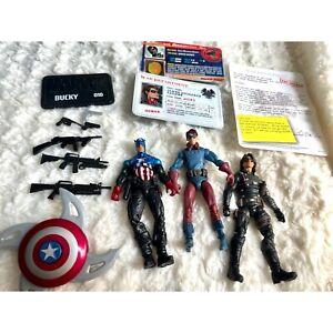 "Marvel universe 3.75"" Winter Soldier & Bucky Captain America figure lot of 3"