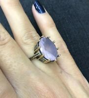 Turkish Handmade Jewelry Sterling Silver 925 Quartz Ring Ladies 6 7 8 9 10