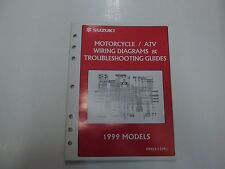 1999 Suzuki Motorcycle & Atv Wiring Diagrams & Troubleshooting Guides Manual *