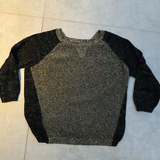 RIVER ISLAND BLACK & GOLD KNIT TOP size 10