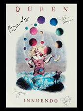 """QUEEN INNUENDO facsimile SIGNED 16"""" x 12"""" Reproduction Concert Poster"""
