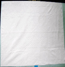 "Practice Practice Practice Whole Cloth Quilt 90"" x 90"" Queen Size Cotton"