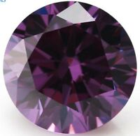 Romantic 47.6ct 20mm Round Purple Amethyst Diamonds Cut AAAAA VVS Loose Gemstone