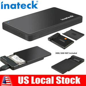 "Inateck 2.5"" SATA USB 3.0 External HDD SSD Enclosure Hard Drive Windows Case US"
