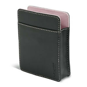 """Genuine Garmin nuvi 3.5"""" Leather Carrying Case Black/Pink 010-10936-01"""