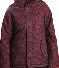 686 Women 4eva-after Snowboard Jacket (S) Wine Paisley Herringbone