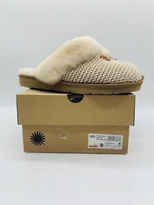 UGG Women's Cozy Knit Slide Slippers Cream US 9M / EUR 40