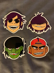 "Lot (4) GORILLAZ 2 1/2"" x 2 1/2"" Logo Stickers FAST SHIP! Damon Albarn"
