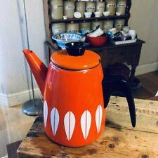 More details for vintage cathrineholm orange lotus pattern coffee pot – great! –