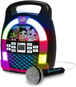 LOL SURPRISE! Remix Bluetooth Karaoke Boombox for Kids with Lights & Music