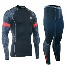 Fixgear Essentials Long Sleeve Compression + Leggings Set Mma Bjj Wrestling Gym