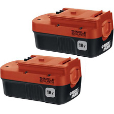 Black+Decker HPB18-OPE2 Battery Pack, 18 Volt NiCd 2 Pack Battery