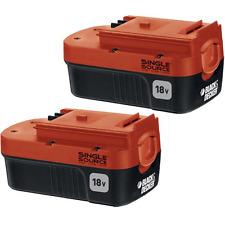 Black+Decker HPB18-OPE2 Battery Pack, 18 Volt NiCd 2 Pack Battery