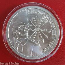 "Silver Bullet Silver Shield 2012 Original ""Debt & Death"" 1 oz. Silver Medallion"