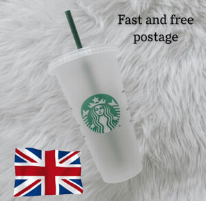 Starbucks Reusable Frosted Cold Cup Tumbler w Lid & Straw - Venti Large Size Cup