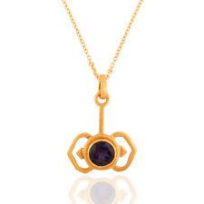Iolite Gemstone 925 Silver Designer Chain Pendant Womens Fashion Jewelry
