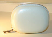 Creme de La Mer Logo Cosmetic Makeup Bag / Case Pearlized White Clam Shell