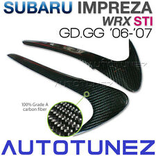 Carbon Fiber Eyelid Eyebrow Subie Car For Subaru WRX STI 06 07 GD GG GDB AT
