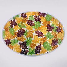 "Celebrate Thanksgiving Fall Orange Yellow Leaves Set 4 Cotton Placemats 13""-18"""