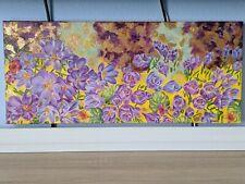 Schilderij olieverf op doek krokussen moderne kunst