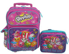 "Shopkins Large School Roller 16"" Large Backpack Lunch Bag 2pc Bestie For Life!"