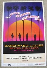 BARENAKED LADIES Last Summer On Earth Tour 2018 Red Rocks 11x17 Promo Poster