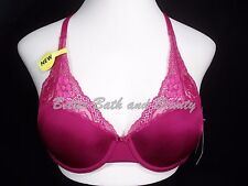 Lily of France 2177175 Extreme Lacy Looks Lightly Lined UW Bra 36C Magenta