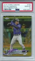 NOLAN ARENADO 2018 TOPPS CHROME GOLD REFRACTOR #3/50 PSA 10 GEM MINT POP 2 L@@K
