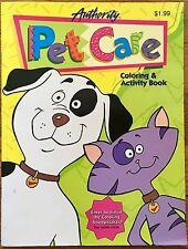 Authority Pet Care Petsmart Coloring & Activity book 1997 Unused