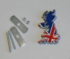 Metal/Enamel Union Jack UK Grille Badge - Free Shipping from US.