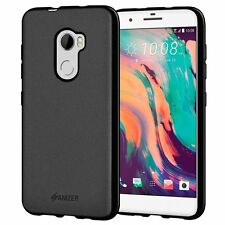 AMZER Exclusive Pudding Matte TPU Back Case Skin Cover For HTC One X10 - Black