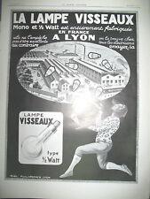 PUBLICITE DE PRESSE VISSEAUX LAMPES ECLAIRAGE LUMIERE JONGLEUR LYON 1921