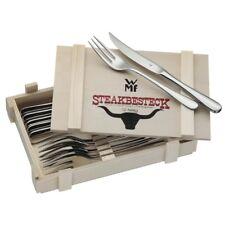 WMF Steakbesteck 12 tlg. Grillbesteck für 6 Personen in Holzkassette Edelstahl