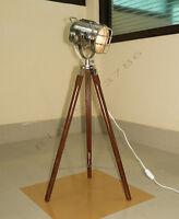 Marine Chrome Tripod Floor Lamp Tripod Floor / Table LAMP nautical search light