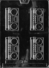 RADIO BOOM BOX PIECES mold candy chocolate soap molds 80's 90's party favors