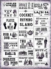 Cockney Rhyming Slang funny metal sign (og 2015) FREE UK POSTAGE