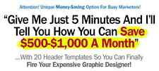 20 Unique & Money-Saving Header Graphics (PSD & PNG) on 1 CD
