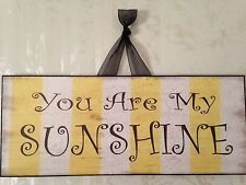 "Vintage ""You Are My SUNSHINE"" Sign Plaque. 11"" X 4 1/2"""